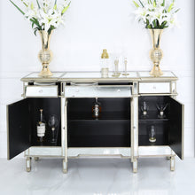 The Bella Gold 3 Draw, 4 Door Bed Side Cabinet