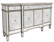Modern Mirrored Cabinet with Gold Trim