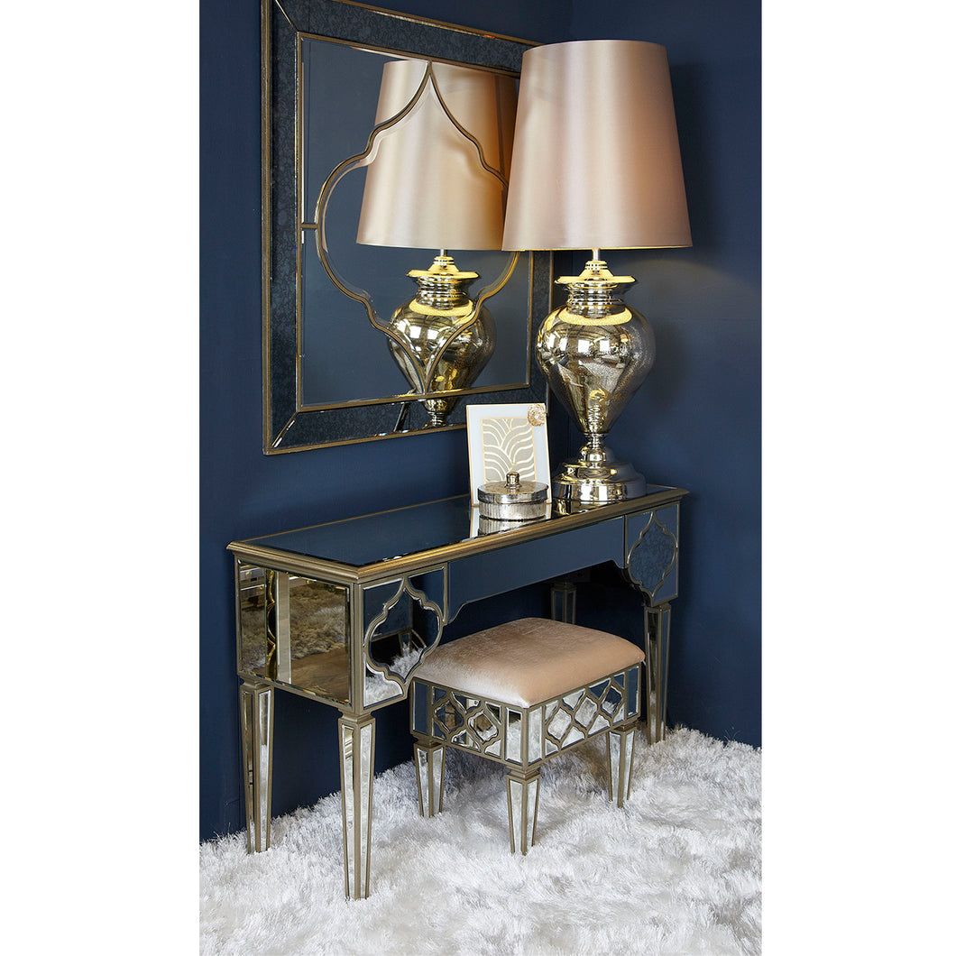 Champagne Casablanca Mirrored Table