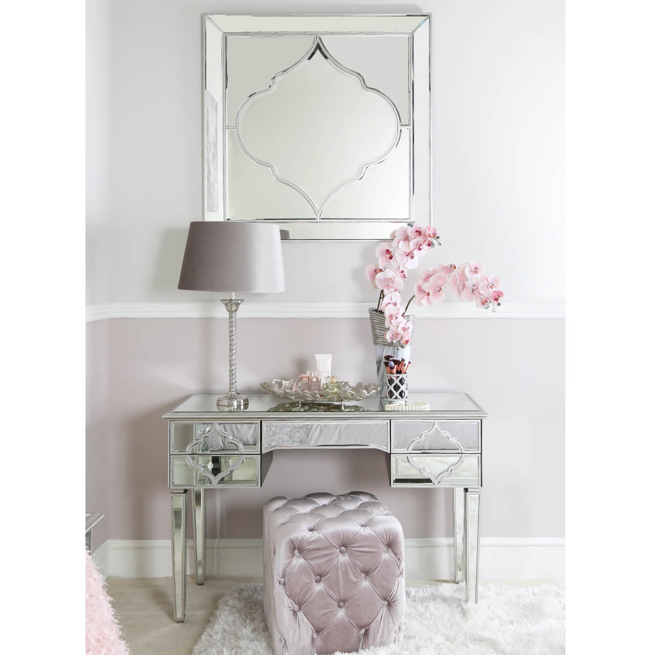Gatsby Silver  Dressing Table