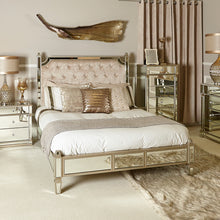 Mirrored Champagne Bed