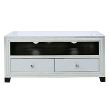 Divine White Mirrored Entertainment Unit