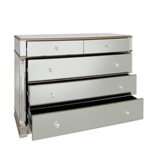 Mirrored  5 Drawer Chest
