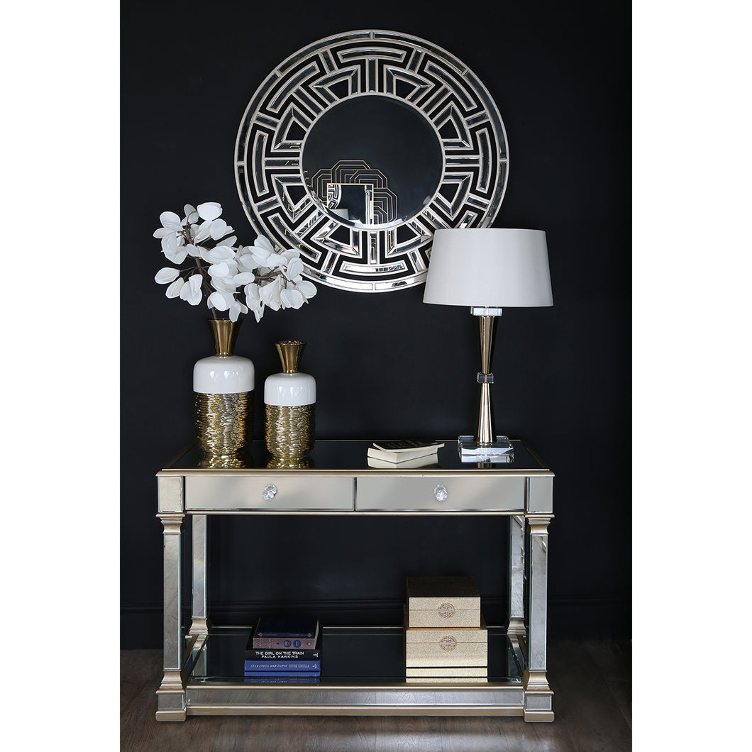 Casablanca Mirrored Console Table (Available in Silver & Gold)