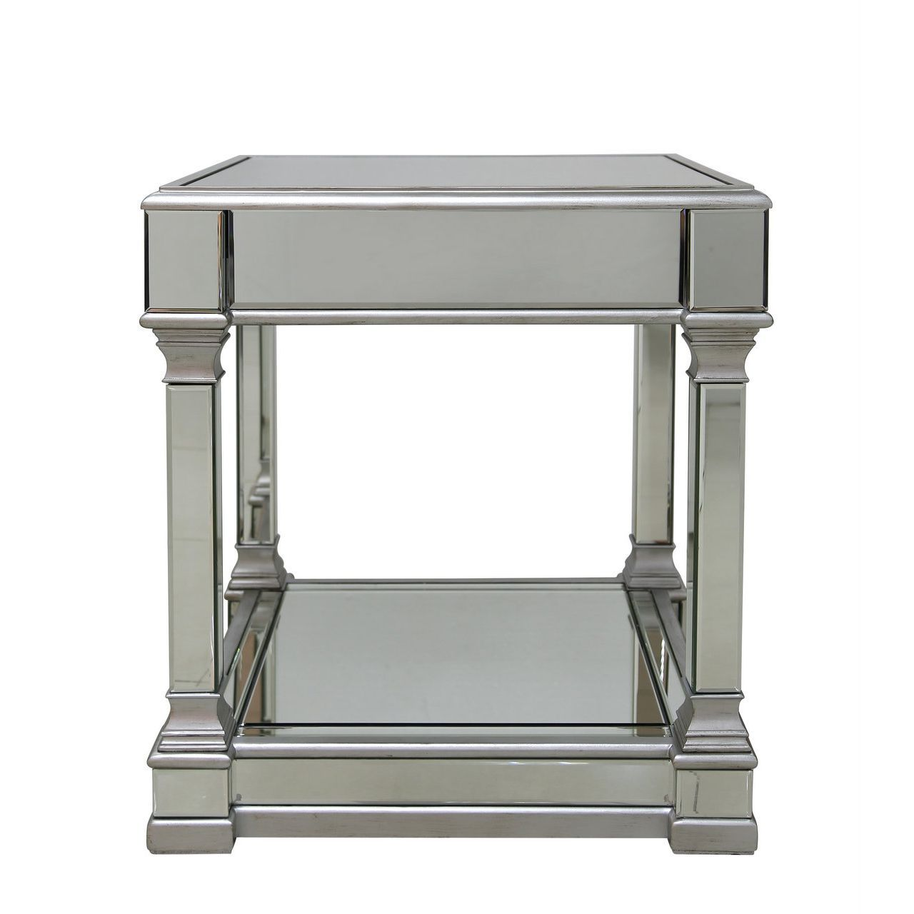 Lexi Silver Mirrored End Table