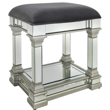 Silver Casablanca Mirrored Stool