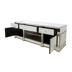 Champagne Romano Mirror Entertainment Unit