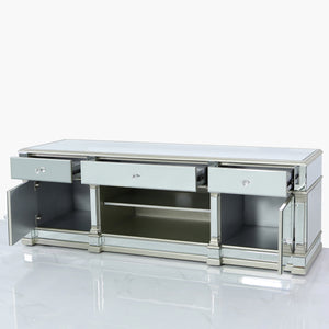 Large Romano Entertainment Unit (Available in Champagne & Silver)