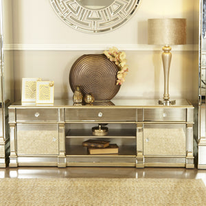 Medium Romano Entertainment Unit ( Available in champagne & silver)
