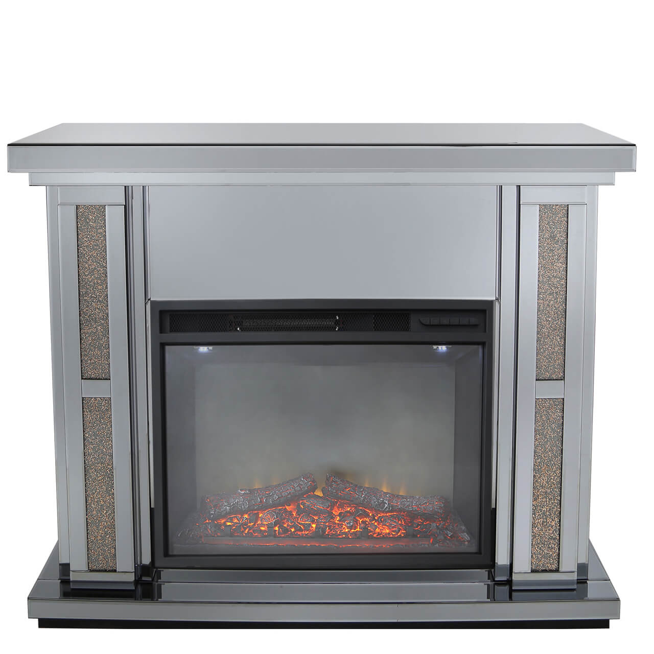 Copper  Milan Mirrored Fire Surrounds