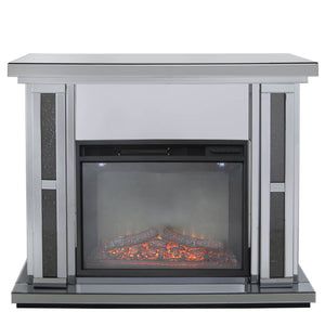 Smoked Milan Mirrored Fire Surrounds