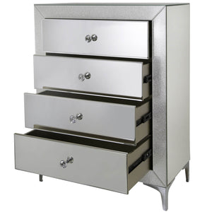 Sparkle Champagne 4 Drawer Cabinet