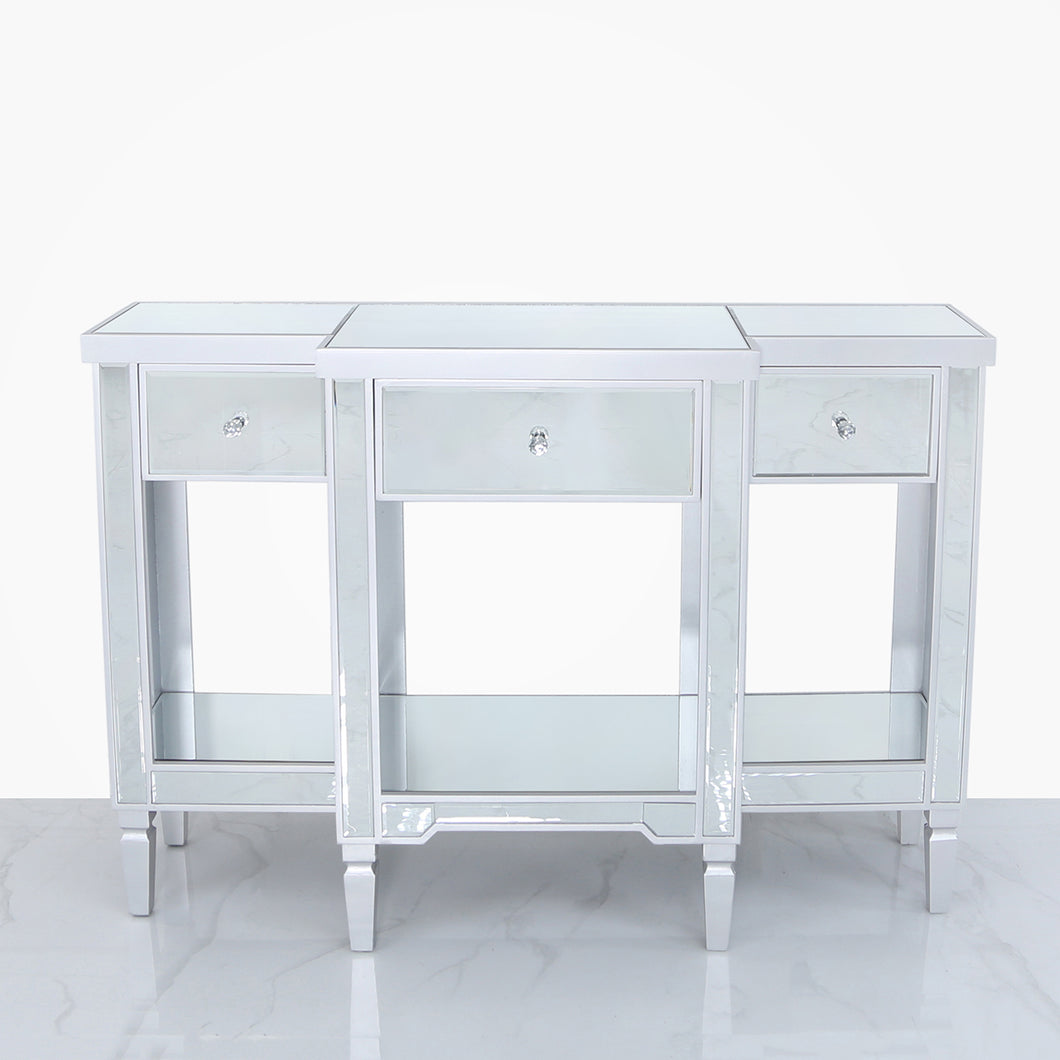 Lexi Silver 3 Drawer Table