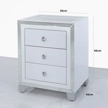 Mirrored Display Bedside Cabinet