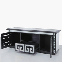 Helix Mirrored Black Entertainment Unit