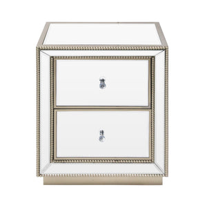 Cressona Mirrored Bedside Cabinet
