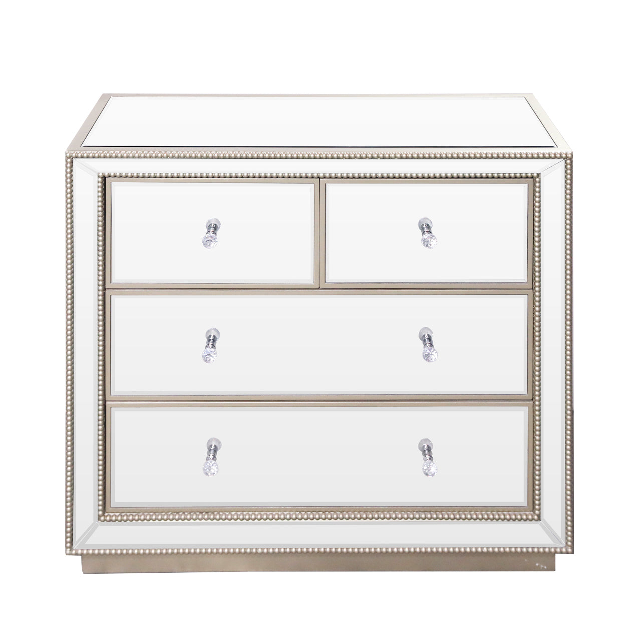 Cressona Mirrored 4 Drawer Cabinet