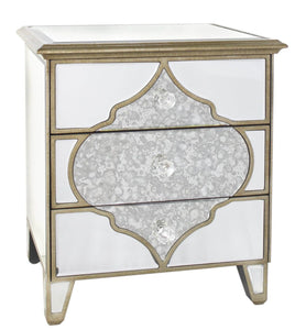 Casablanca 3 Drawer Bed Side Cabinet