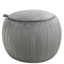Grey/Pink/Blue Round Storage Stool