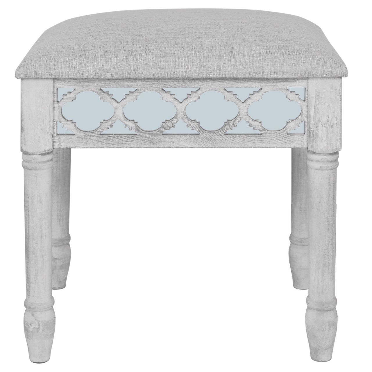 Harvey Grey Vanity Stool Furnico Living