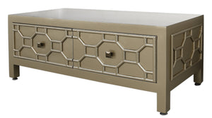 Gold Caster Coffee Table
