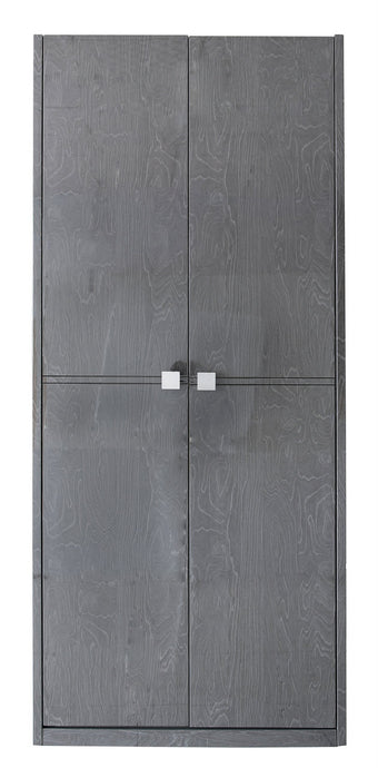 The Maya Dark Grey Walnut Wardrobe For Him
