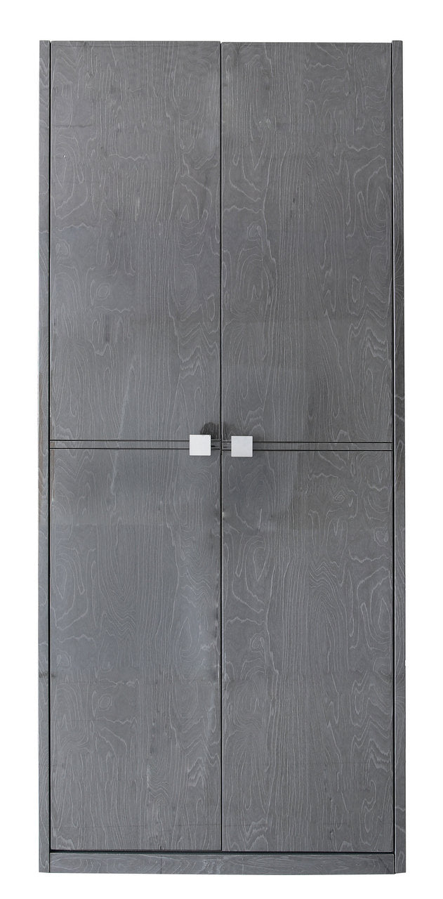 The Maya Dark Grey Walnut Wardrobe For Her