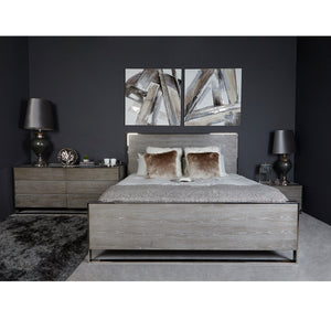 Kelton Super King Size Grey Bed Frame