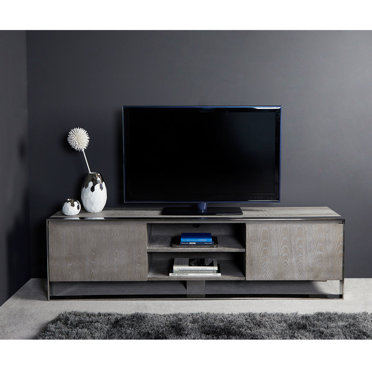 Kelton 2 Door Grey Entertainment Unit