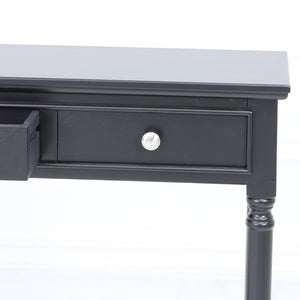 Danna Black 3 Drawer Table