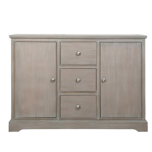 The  Kelton Taupe 3 Draw 2 Door Cabinet