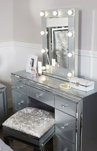 Grey Chelsea 7 Drawer Dressing Table