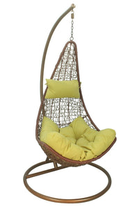 Rattan Swing Seat Hanging Chair with cushion & stand