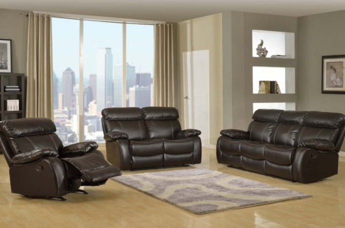 Milano Leather Recliner Sofa