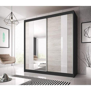 Multi 32 Sliding Mirror Door Wardrobe