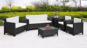 LARGE RATTAN GARDEN SOFA SET   3+2+1+1+Coffee Table+Corner Table