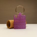Ring Me Up-Grape Beaded Bag