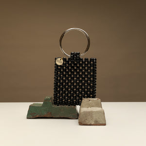 Ring Me Up- Black Beaded Bag