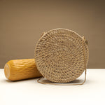 Benett Larger Round Handwoven Basket Bag