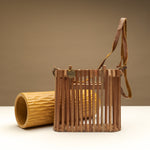 Wooden Arc Tote with Top Handle