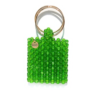 Ring Me Up- Lime Green Beaded Bag