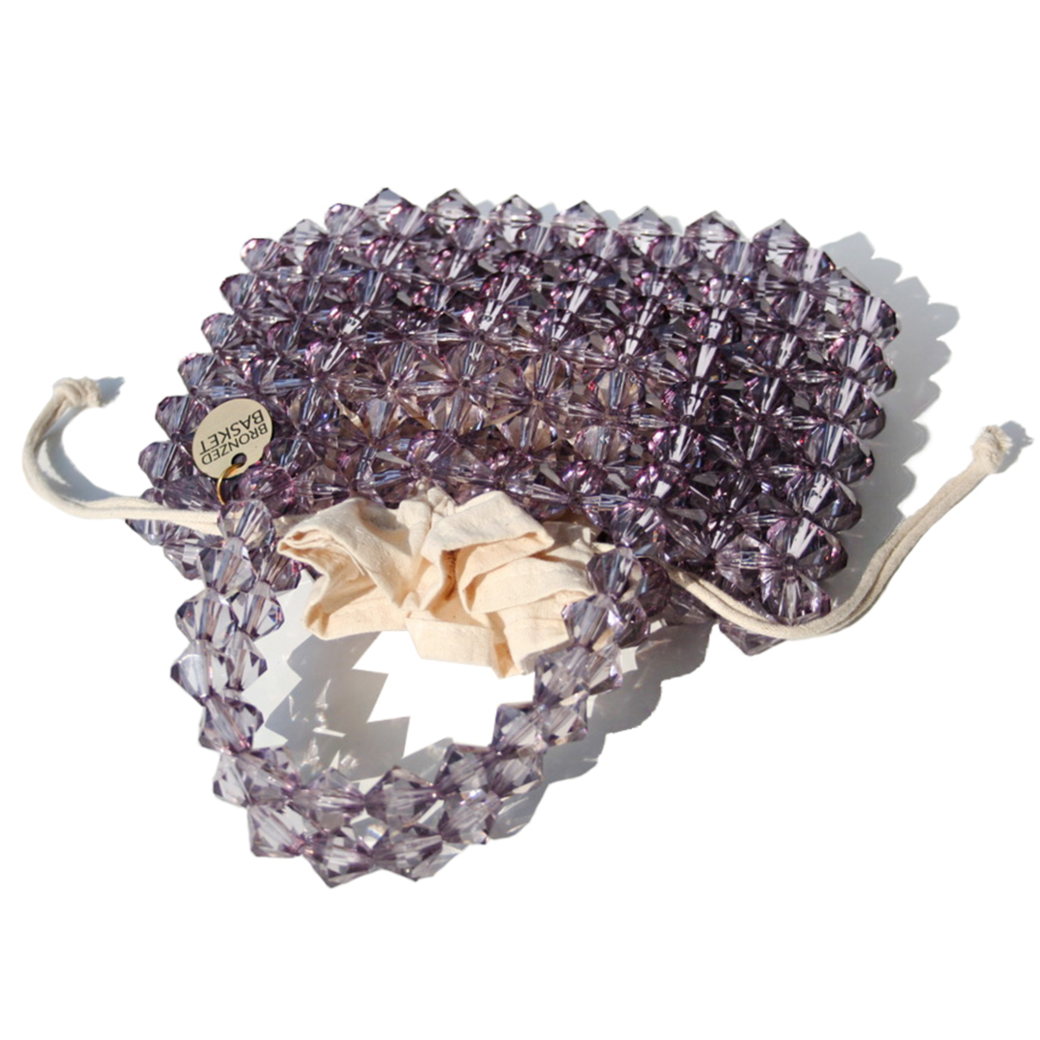 Smokey Quartz Beaded Bag