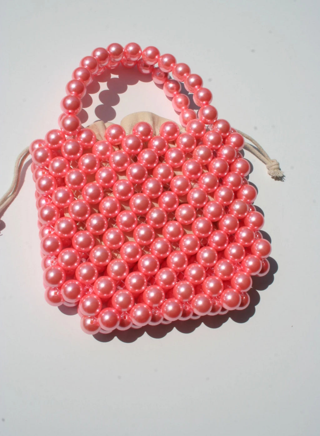 Strawberry Milkshake Beaded Bag
