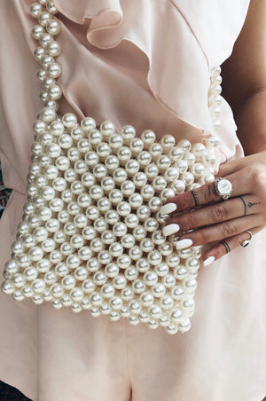 Pearly Gates Beaded Bag
