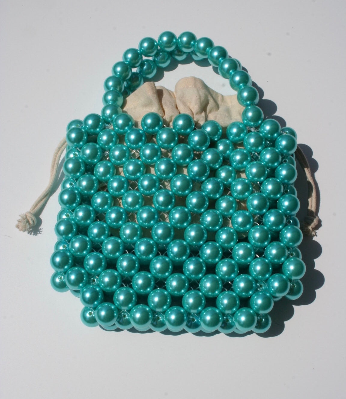Bubblegum Milkshake Beaded Bag