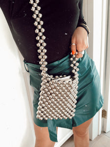 Metallic Muse Beaded Bag