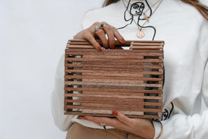 Wooden Arc Tote Bag