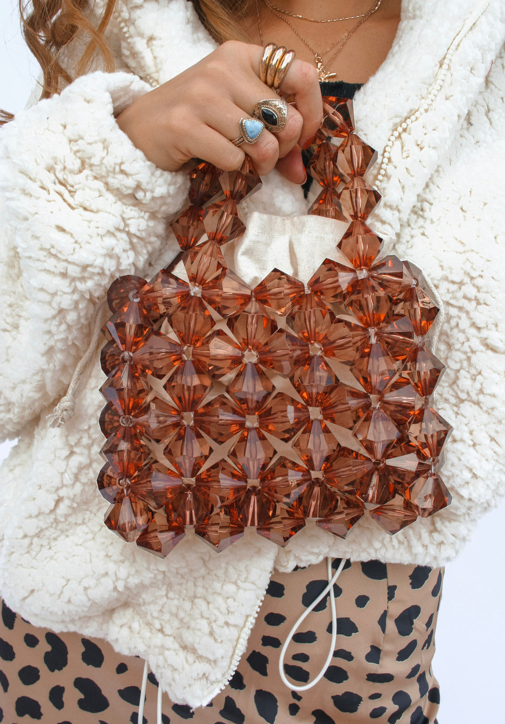 Crystal Earth Beaded Bag