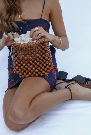 Revolve Wooden Beaded Bag