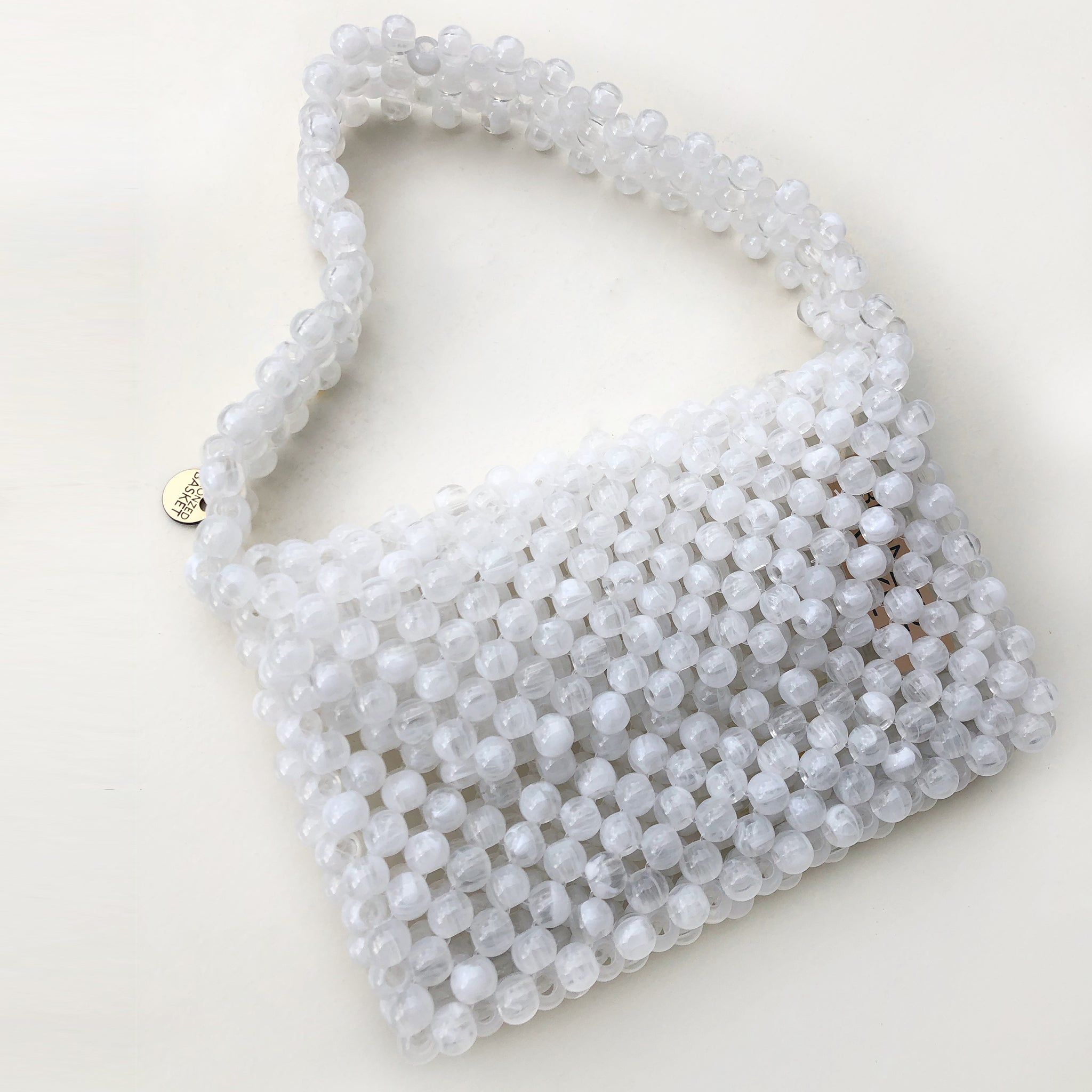 Milky Way Baguette Bag- White